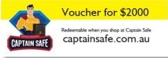 Captain Safe - $2000 Voucher